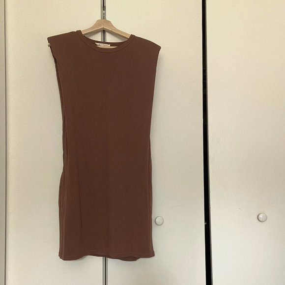 VICI Collection Taupe Shift Dress